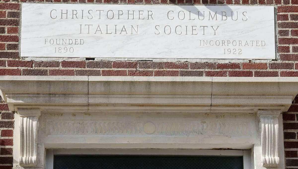 Detail of the Christopher Columbus Italian Society Hall.