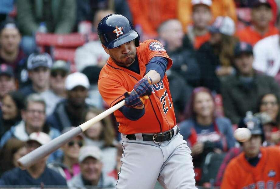 Houston's Jose Altuve has put together an MVP-caliber season hitting .346 with 112 runs, 24 homers and 81 RBIs. Photo: Michael Dwyer /Associated Press / AP2017