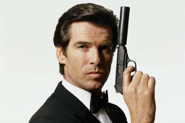 Irish actor Pierce Brosnan appearing as British secret service agent James Bond, late 1990s. (Photo by Terry O'Neill/Getty Images)