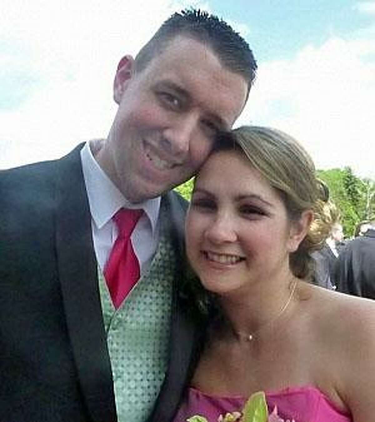 The late Danbury police Sgt. Drew Carlson and his wife, Erin