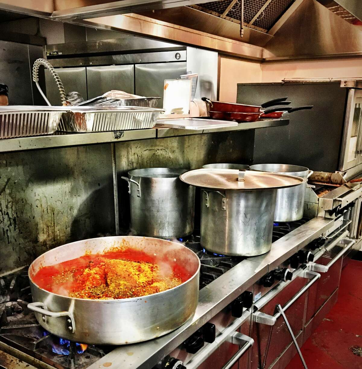 Meals being cooked at the Midtown Kitchen Collective.