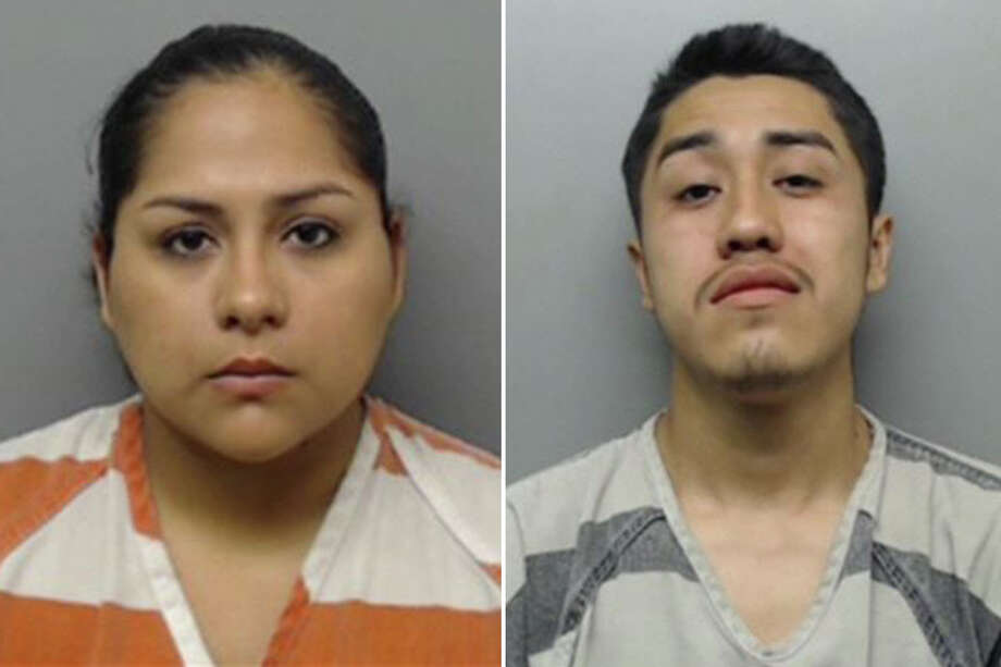 Monica Gallegos, 24, was arrested and charged with making a false report to police. Her boyfriend, Erik Zeferino Lopez-Hilario, 20, was charged with smuggling of persons. Photo: Webb County Sheriff's Office