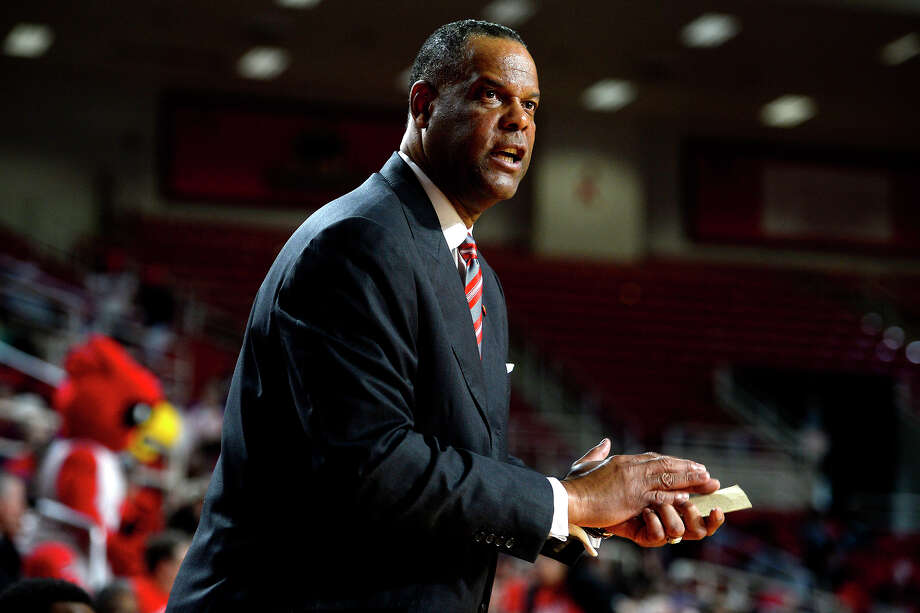 Lamar men's basketball coach Tic Price watches from the sideline during the first half of a game against McNeese State at the Montagne Center on Saturday afternoon.  Photo taken Saturday 2/4/17 Ryan Pelham/The Enterprise Photo: Ryan Pelham / ©2017 The Beaumont Enterprise/Ryan Pelham