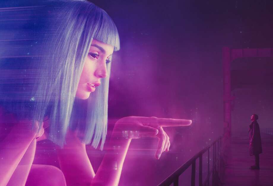 "Giant 3-D holograms outshine the video billboards from the original ""Blade Runner."" Photo: Warner Bros. / Los Angeles Times"