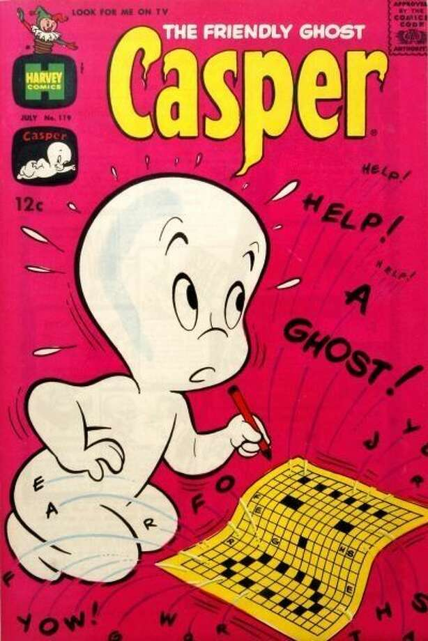 1968: Casper Boo! Thanks to successful books and a cartoon, Casper the Friendly Ghost made many trick-or-treat appearances in 1968.  Photo: Harvey Comics