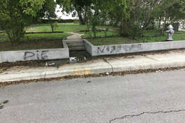 Racist graffiti spotted on the East Side was found and abated Wednesday, Oct. 4, 2017.