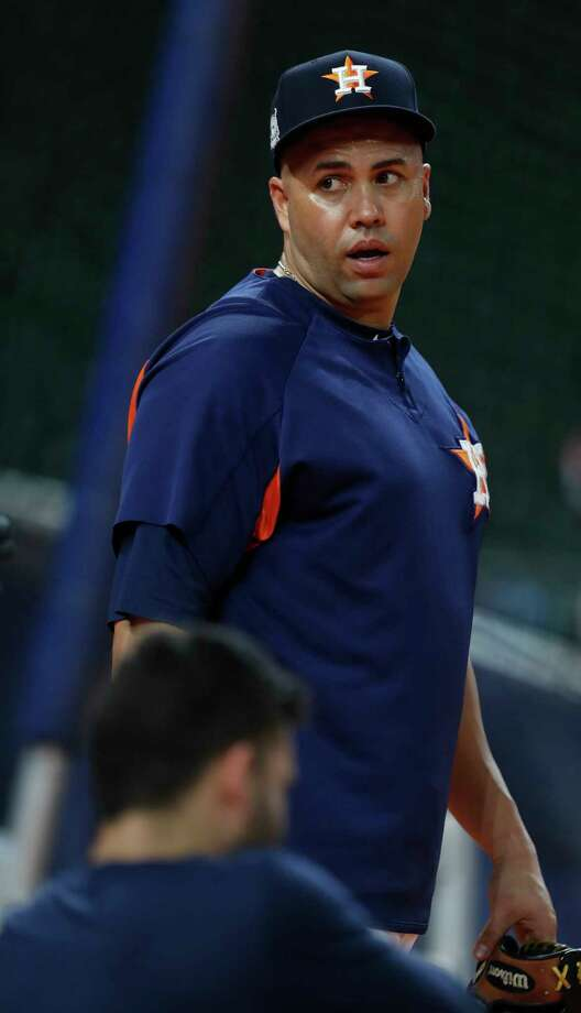 Houston Astros Carlos Beltran during the Houston Astros batting practice at Minute Maid Park,  Tuesday, Oct. 3, 2017, in Houston, as they prepare to take on the Boston Red Sox in the ALDS playoffs. Photo: Karen Warren, Houston Chronicle / @ 2017 Houston Chronicle