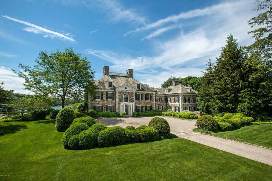 The Georgian colonial mansion at 116 Oneida Dr. in Greenwich. Photo: Realtor.com