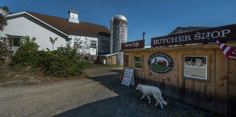 Exterior view of the farm cafe and butcher shop at the Wm. H. Buckley Farm Wednesday Oct. 4, 2017 in Ballston Spa, N.Y. (Skip Dickstein/Times Union)