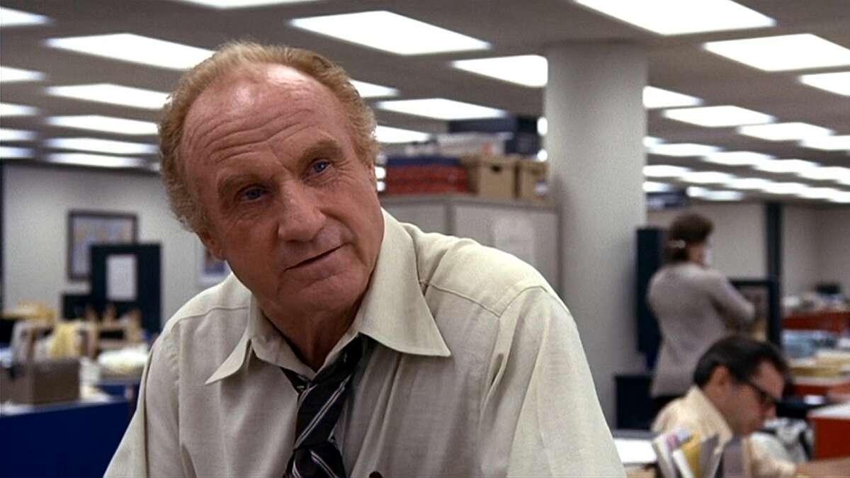 """Jack Warden as Harry Rosenfeld in """"All the President's Men."""""""