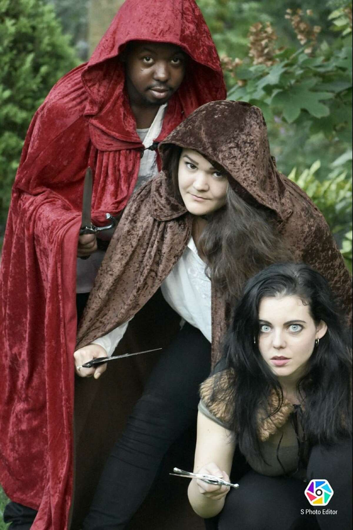 The witches of the Hudson Shakespeare Company production of