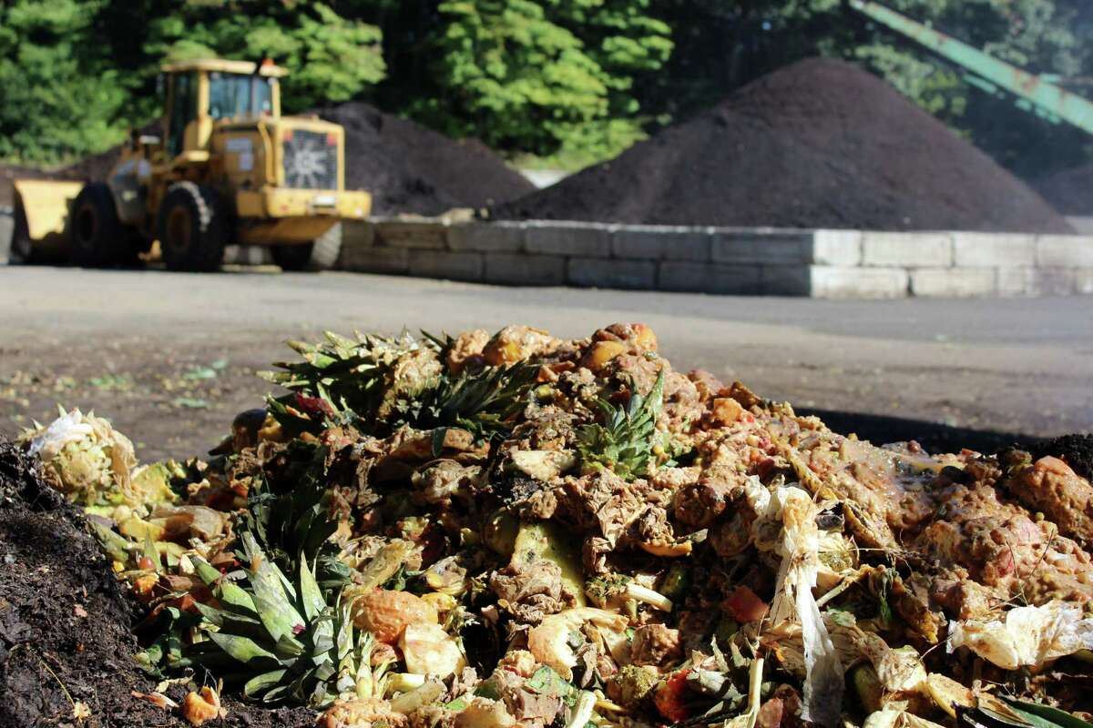 Food scraps from Middlebrook School, and other locations in nearby towns, turn to compost at New England Compost in Danbury.