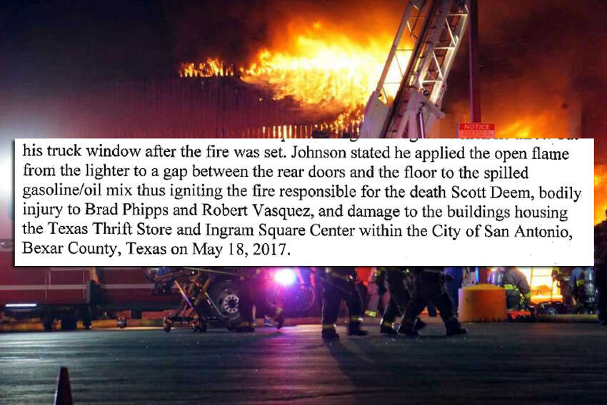 In an interview with investigators on Wednesday, Oct. 4, 2017, Emond Johnson described how he set the blaze that killed San Antonio firefighter Scott Deem, according to police records.