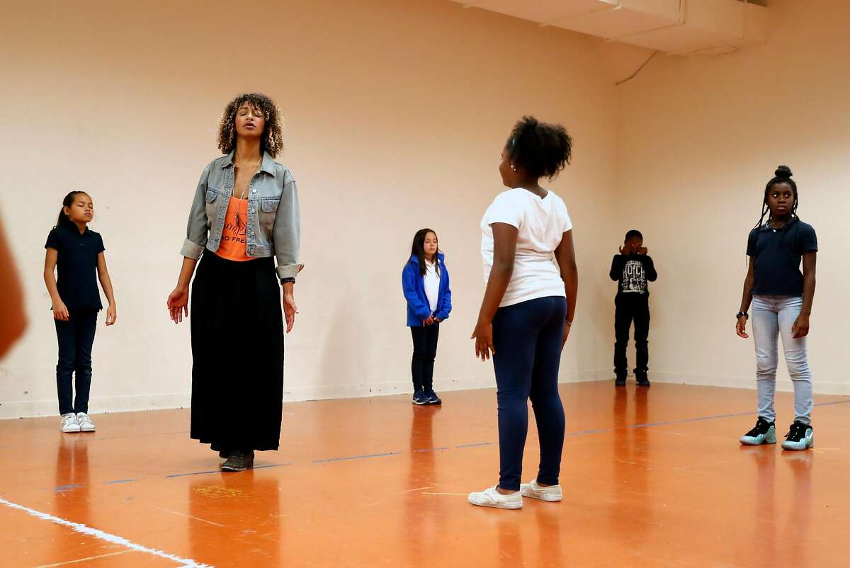 Sam Jackson teaches a class at African American Art & Culture Complex in San Francisco, Calif., on Tuesday, October 3, 2017.