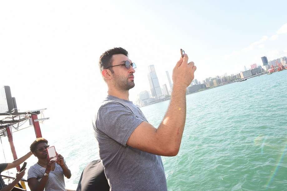 Zaza Pachulia of the Golden State Warriors takes in some sights around Hong Kong as part of the 2017 Global Games - China on October 3, 2017 in Hong Kong.  Photo: Noah Graham, NBAE/Getty Images