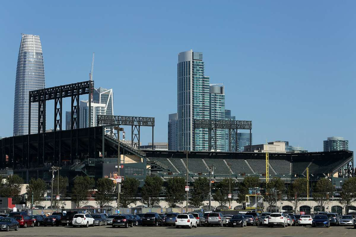 AT&T Park's Parking Lot A on Wednesday, Oct. 4, 2017, in San Francisco, Calif.