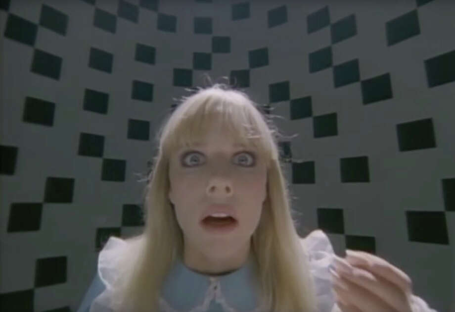 """Louise Foley-Cohen starring in the music video for Tom Petty's """"Don't Come Around Here No More."""" Photo: YouTube"""