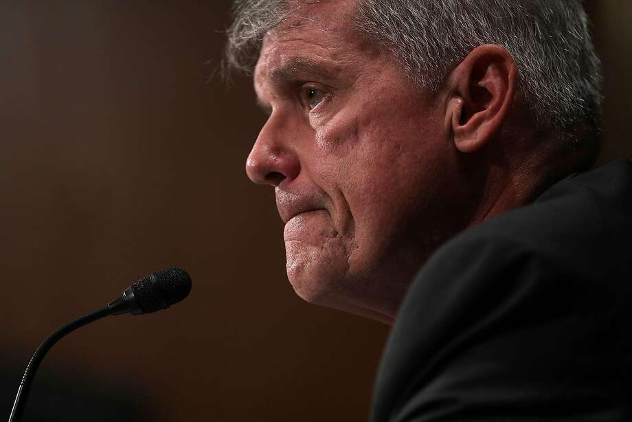 Wells Fargo's Timothy Sloan testifies before a Senate panel Tuesday. Photo: Alex Wong, Getty Images