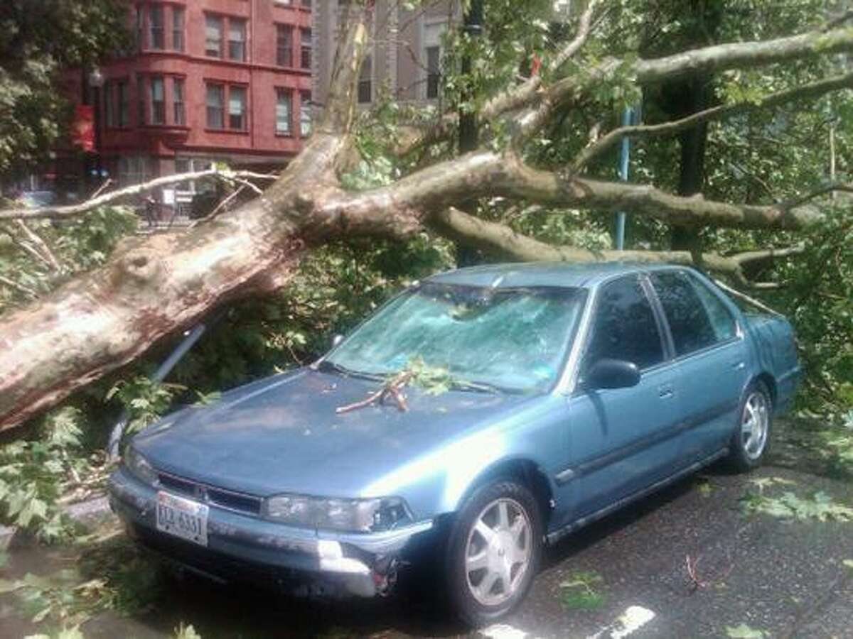 More damage in downtown Bridgeport from Twitter user @BAMBAMBPT.