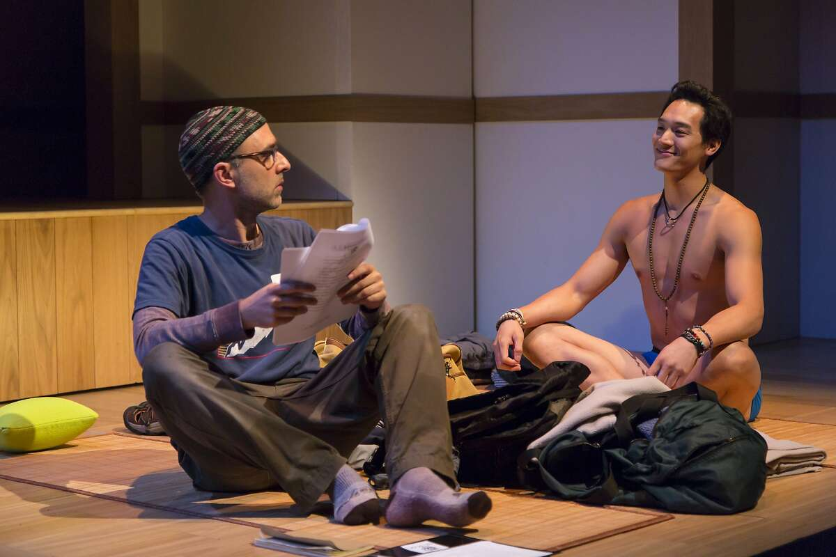 """From left: Ben Beckley as Ned and Edward Chin-Lyn as Rodney in """"Small Mouth Sounds"""" at ACT's Strand Theater."""