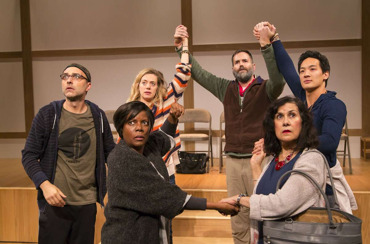 """The cast of """"Small Mouth Sounds"""" at ACT's Strand Theater."""