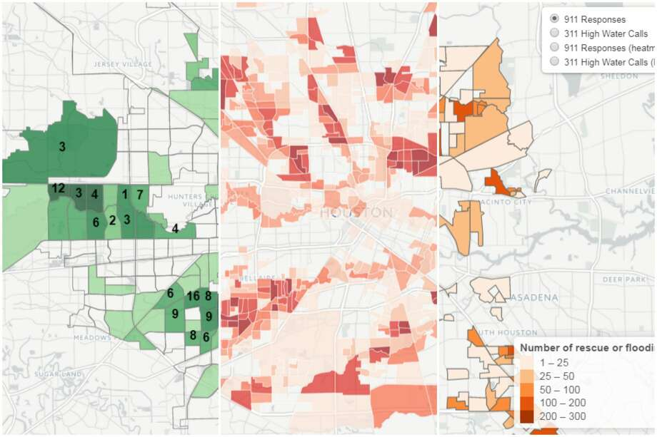 Three maps created by the City of Houston show how Harvey impacted Houston during and after the storm.See a by the numbers look at how Harvey impacted Texas. Photo: City Of Houston