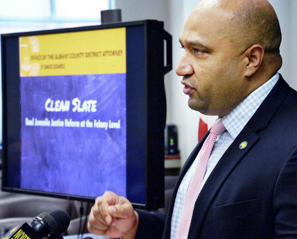Albany County District Attorney David Soares announces a new series of criminal justice reforms Tuesday June 6, 2017 in Albany, NY. (John Carl D'Annibale / Times Union)