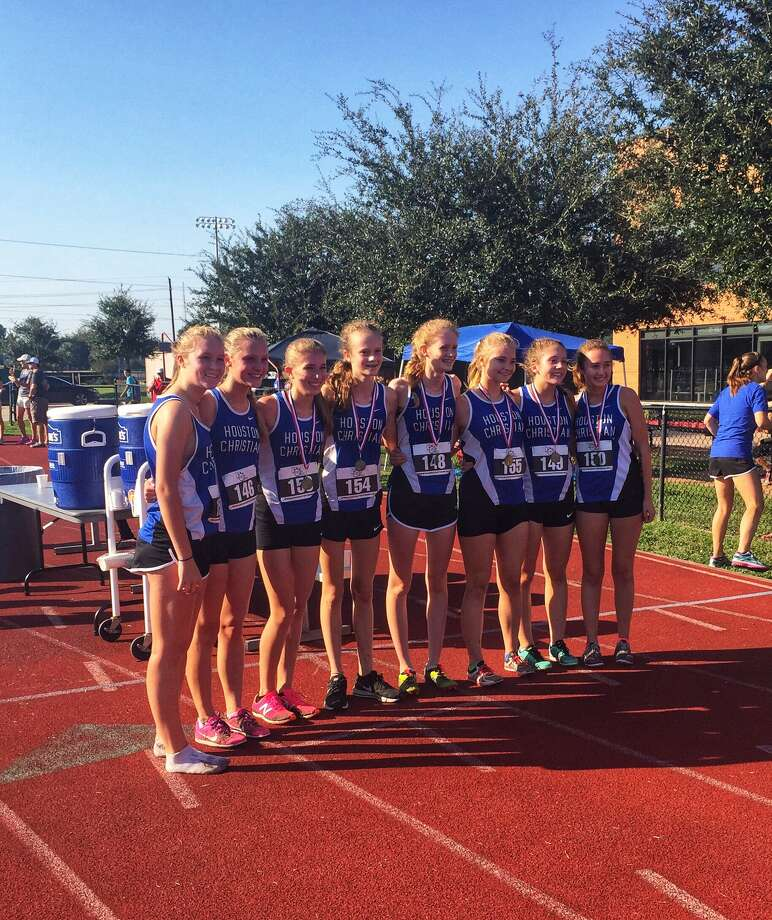 The Houston Christian girls cross country team won the five-kilometer championship Sept. 30 at the Dave Jantzen Invitational at HCHS. Contributing to the victory were Hannah Fritsche, Lauren Kearns, Katherine Lunam, Ashley Kearns, Kenna McGraw, Katherine Kovach and Caroline Bradely.