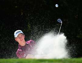 PALO ALTO, CA - SEPTEMBER 21:  Maverick McNealy of the United States during a photo session at the Siebel Varsity Golf Complex on September 21, 2017 in Palo Alto, California.  (Photo by Harry How/Getty Images)