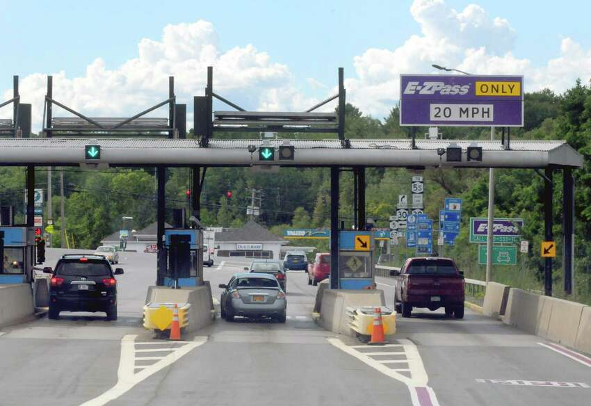The toll booth at exit 27 of the New York State Thruway on Wednesday Aug. 5, 2015 in Amsterdam, N.Y. (Michael P. Farrell/Times Union)