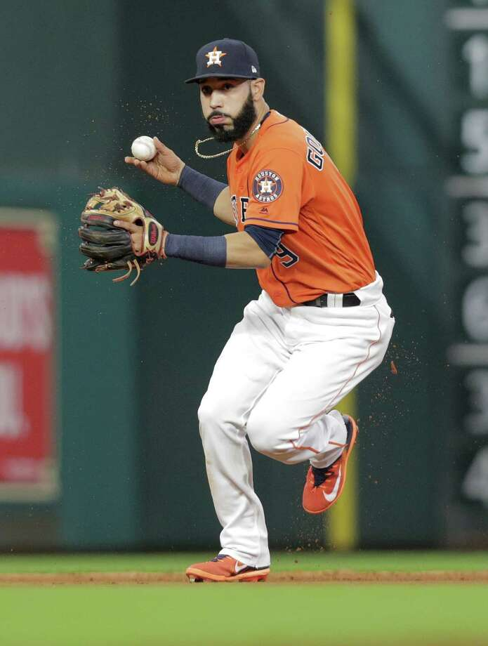 PHOTOS: Astros-Red Sox matchupsMarwin Gonzalez became MLB's first player in 49 years to appear in at least 19 games at five positions, in his case first, second and third base, shortstop and left.Browse through the photos to see a breakdown of the matchups between Houston and Boston. Photo: Elizabeth Conley, Staff / © 2017 Houston Chronicle