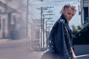 Singer Pink, whose new album is called 'Beautiful Trauma.'