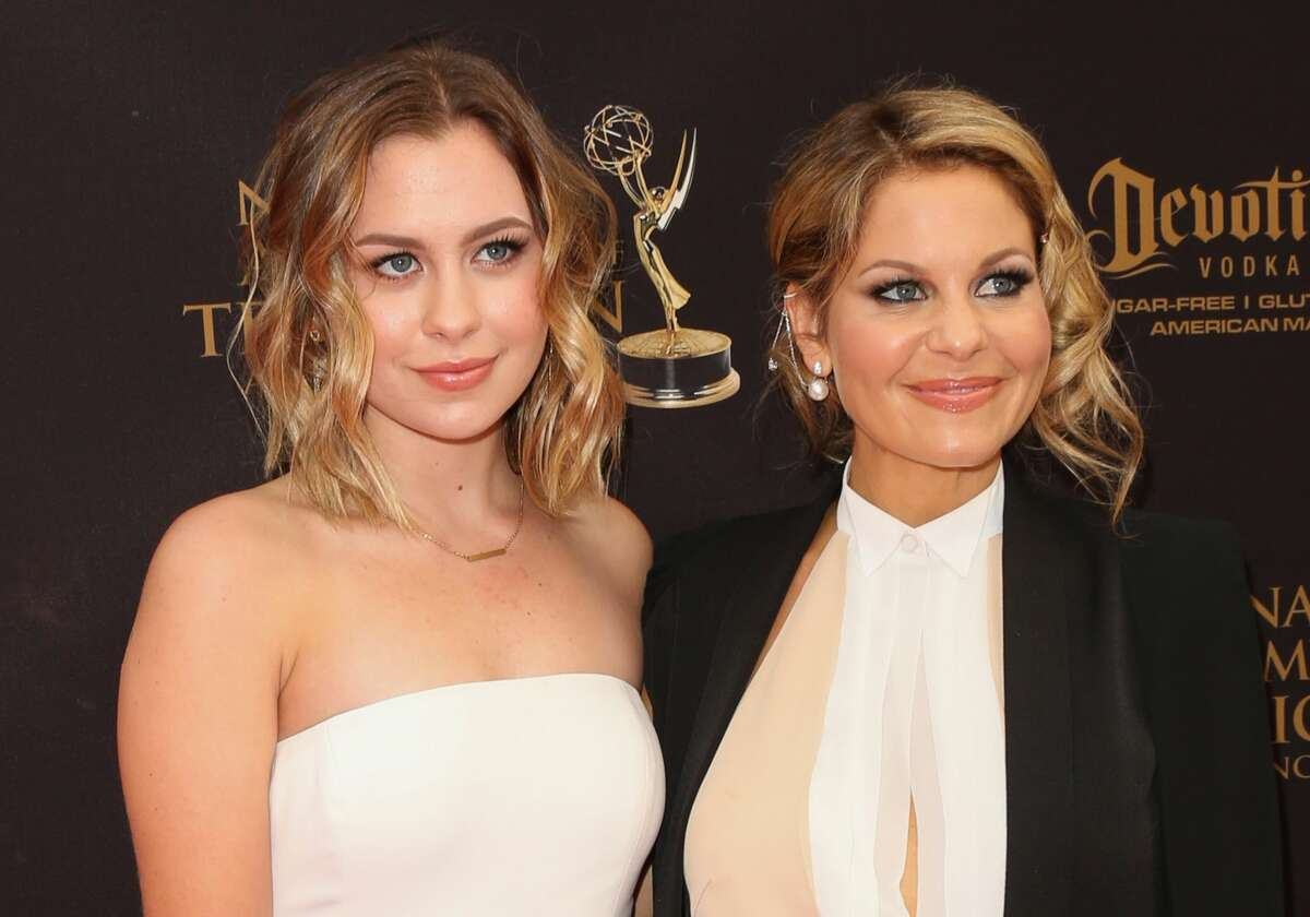 Actress Candace Cameron-Bure (R) and her Daughter Natasha Valerievna Bure (L) attend the 2016 Daytime Emmy Awards at The Westin Bonaventure Hotel on May 1, 2016 in Los Angeles, California.