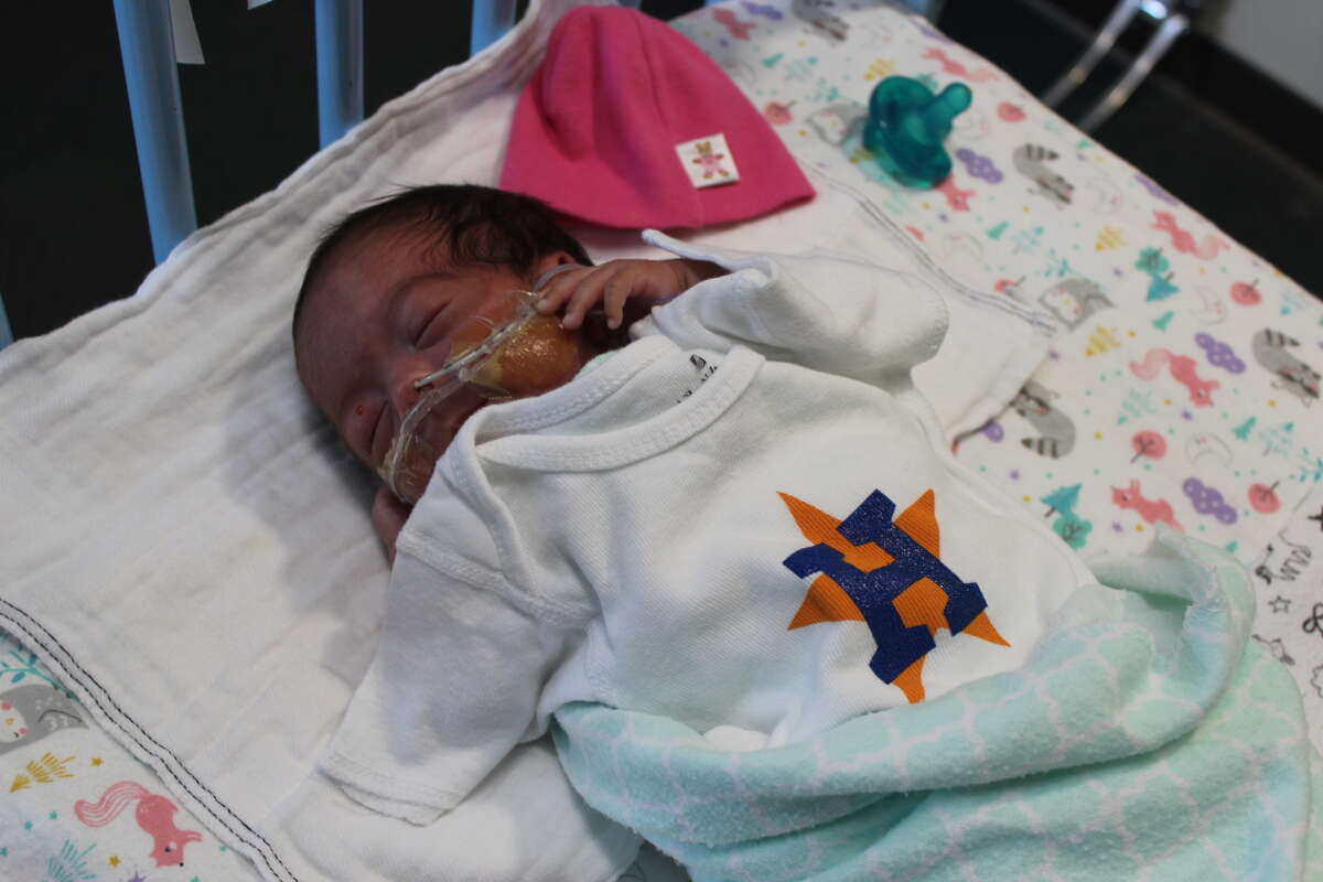 PHOTOS: A look at the Astros' youngest fans Staff at Children's Memorial Hermann Hospital passed out Astros shirts to the parents and children in the NICU. Browse through the photos above for a look at the Astros' youngest fans at Children's Memorial Hermann Hospital.