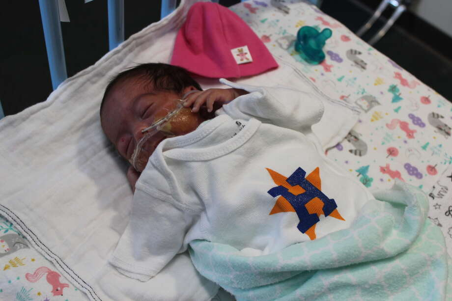 PHOTOS: A look at the Astros' youngest fansStaff at Children's Memorial Hermann Hospital passed out Astros shirts to the parents and children in the NICU.Browse through the photos above for a look at the Astros' youngest fans at Children's Memorial Hermann Hospital. Photo: Children's Memorial Hermann Hospital