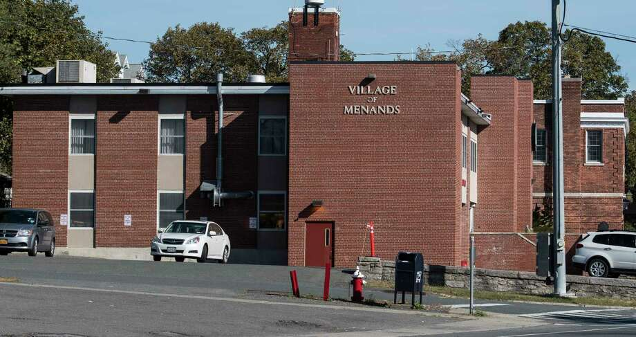 Exterior view of the Village of Menands firehouse and police station Wednesday Oct. 4, 2017 in Menands, N.Y. (Skip Dickstein/Times Union) Photo: SKIP DICKSTEIN, Albany Times Union / 20041746A