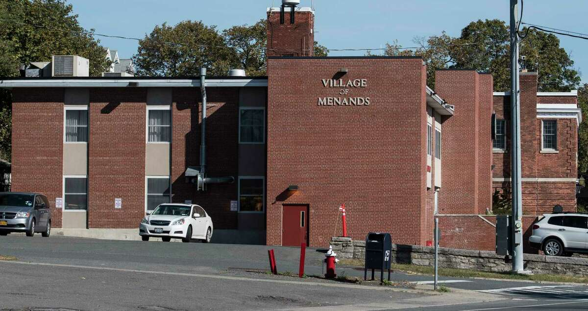 Exterior view of the Village of Menands firehouse and police station Wednesday Oct. 4, 2017 in Menands, N.Y. (Skip Dickstein/Times Union)