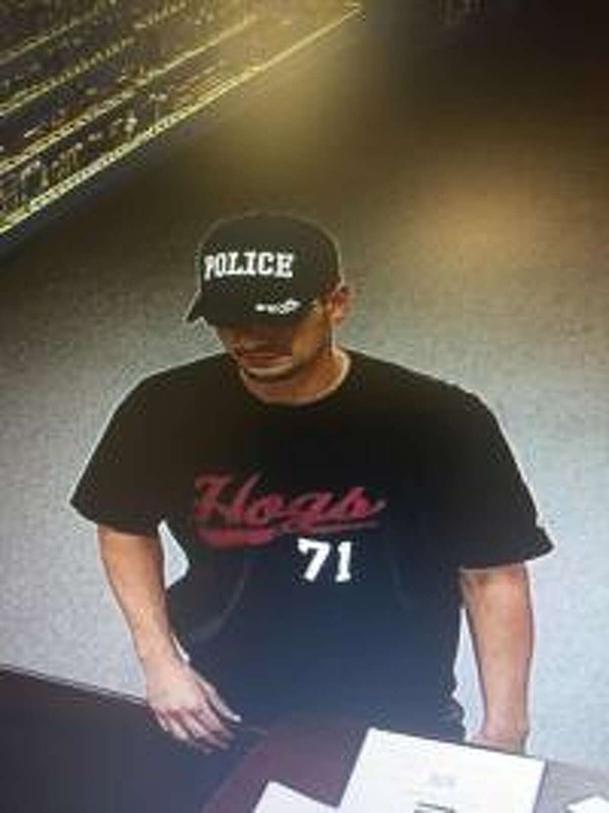 The Friendswood Police Department is searching for the man responsible for the Sept. 28 armed robbery of Edgewood Pharmacy, 120 S. Friendswood Drive. Anyone with information is asked to call 281-996-3300.