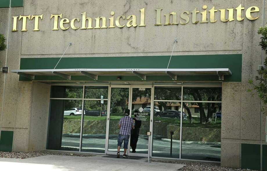 A student who had attended ITT Technical Institute for three years finds that the Northwest Parkway location in San Antonio has ceased operations. ITT Educational Services, one of the largest operators of for-profit technical schools, discontinued operations at resident campuses in 2016. On Thursday, the National Center of Education Statistics reported that students who attended for-profit colleges were twice as likely or more to default on their loans. Photo: Associated Press File Photo