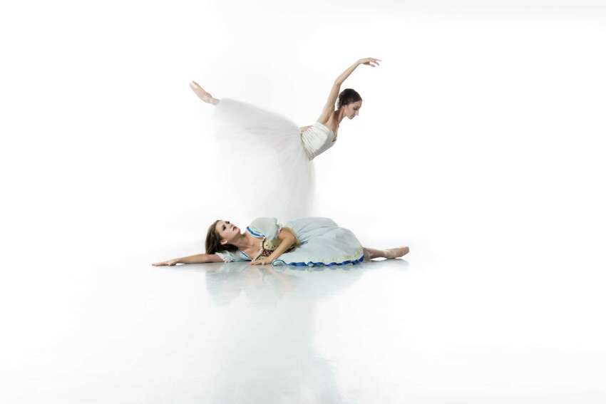 Dancers Sally Turkel (standing) and Kate Maxted can be seen in Ballet San Antonio's