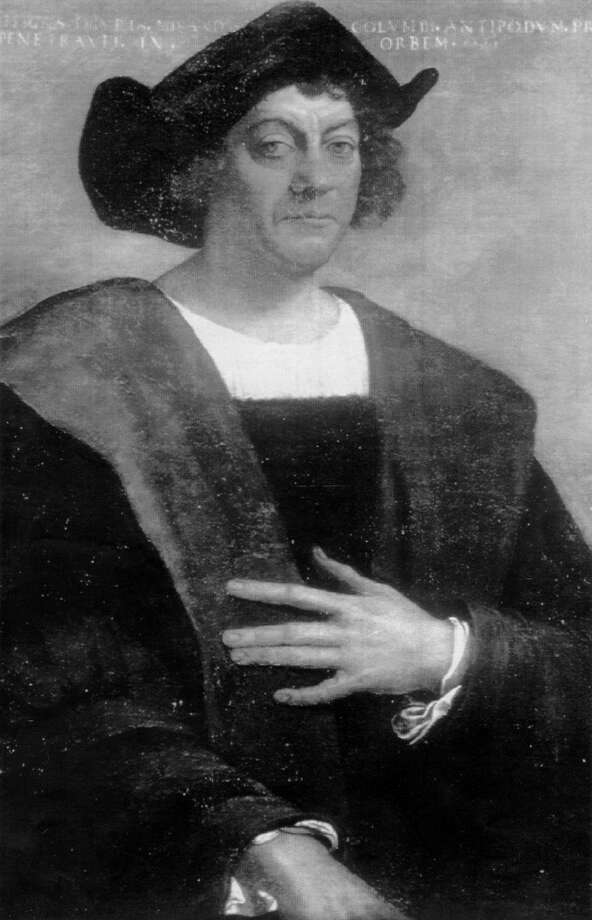 This painting of Christopher Columbus by Sabastiano Del Piombo is at New York's Metropolitan Museum of Art. Photo: ASSOCIATED PRESS/COURTESY METROP / E/N FILE PHOTO