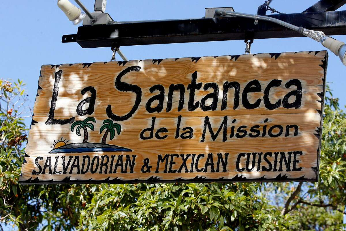 STREETDATE01 The inviting sign for La Santaneca de la Mission on Mission St. between 245h St. and 26th St. in San Francisco, CA. These pictures were made on Tuesday Oct. 23, 2007, in San Francisco, CA. KATY RADDATZ/The Chronicle Photo taken on 10/23/07, in San Francisco, CA, USA