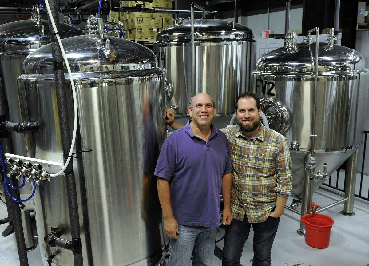 Robert Kaye and son David open Nod Hill Brewery in Ridgefield later this fall. Photo Tuesday, Oct. 3, 2017.