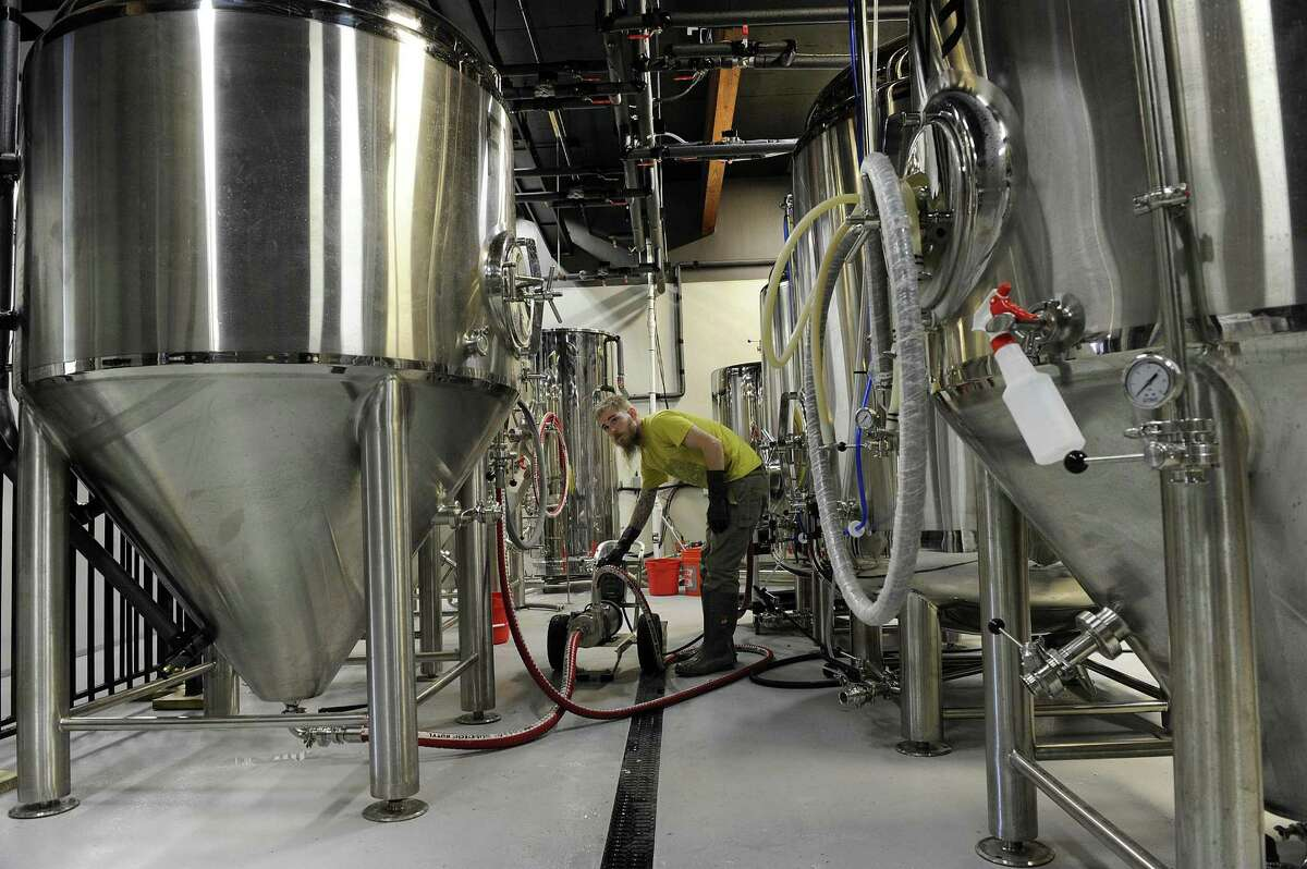 Kyle Acenowr is the head brewer at the Nod Hill Brewery in Ridgefield. Photo Tuesday, Oct. 3, 0217.