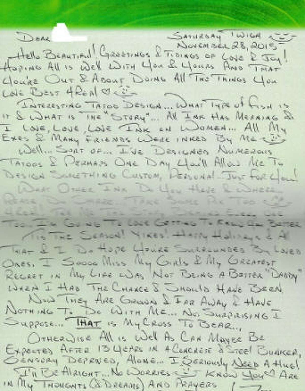 Letters allegedly written by Anthony Shore are now available online for purchase.