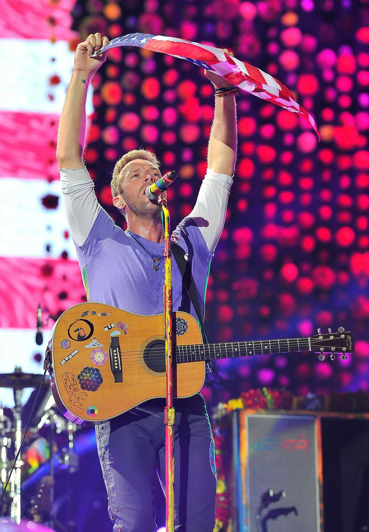 British rock group Coldplay performed at Levi's Stadium on Oct. 4 in Santa Clara, California.
