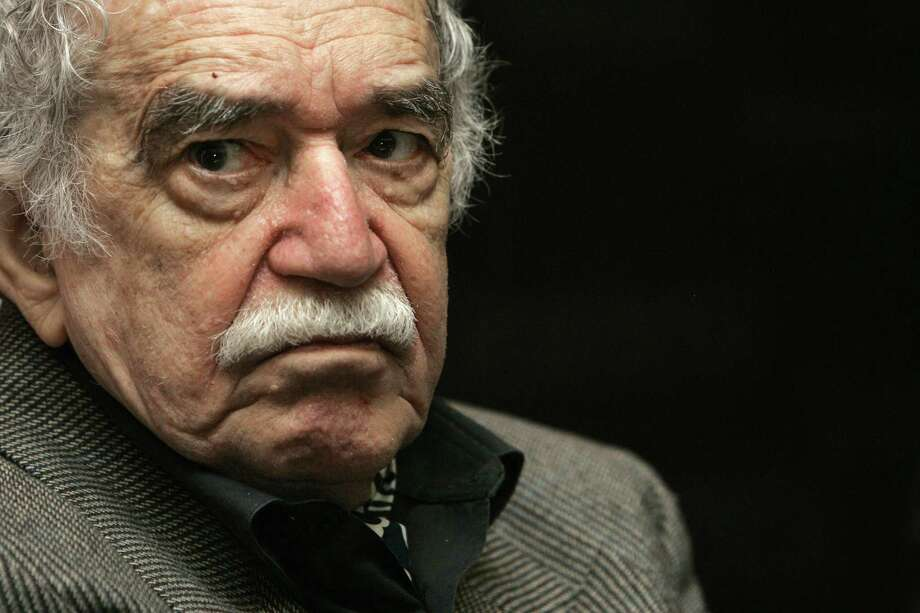 "Colombia's Nobel Literature Prize laureate Gabriel Garcia Marquez at the International Book Fair in Guadalajara, Mexico. His book ""Chronicle of a Death Foretold"" has some messages about the confusion sown by the Trump era. Photo: Miguel Tovar /AP / AP"