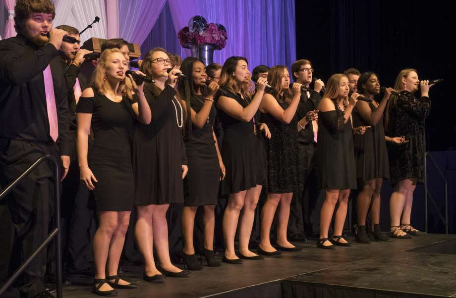 Members of Permian High School Black Magic perform 10/05/17 at the 2017 annual Pink the Basin Luncheon. Tim Fischer/Reporter-Telegram Photo: Tim Fischer/Midland Reporter-Telegram