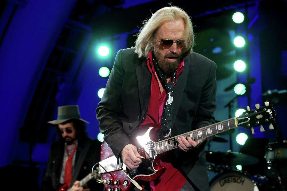 Legedary classic rocker Tom Petty performs with the Heartbreakers at the Hollywood Bowl on Sept. 21. He died Monday. Photo: Luis Sinco /TNS / Los Angeles Times