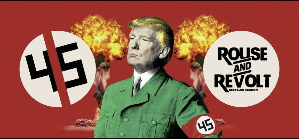 Rouse and Revolt, a company selling recycled clothing, paid for a billboard comparing Trump to Hitler. It was installed on Oct. 4 and taken down by the billboard owner on Oct. 5.